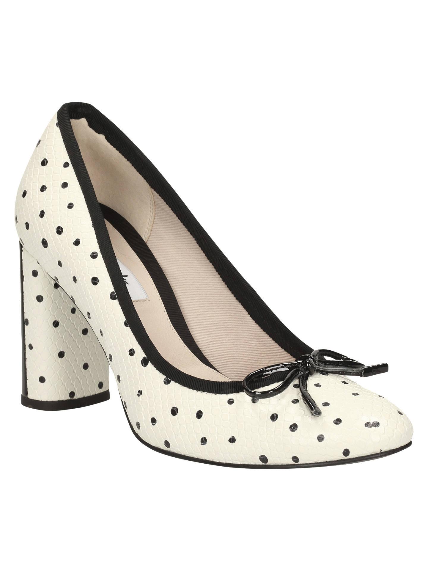 7221d0c654da Clarks Idamarie Faye Block Heeled Court Shoes at John Lewis   Partners