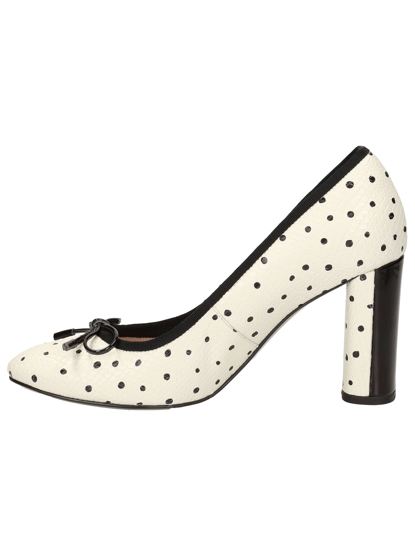 Clarks Idamarie Faye, BlackWhite, Womens Smart Shoes
