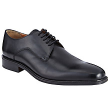 Buy John Lewis Haslett Leather Derby Shoes, Black Online at johnlewis.com