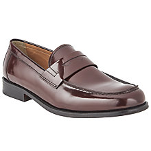 Buy John Lewis Anderson Loafers, Oxblood Online at johnlewis.com
