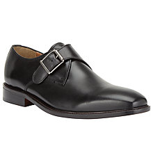 Buy John Lewis Clayton Single Monk Strap Shoe, Black Online at johnlewis.com