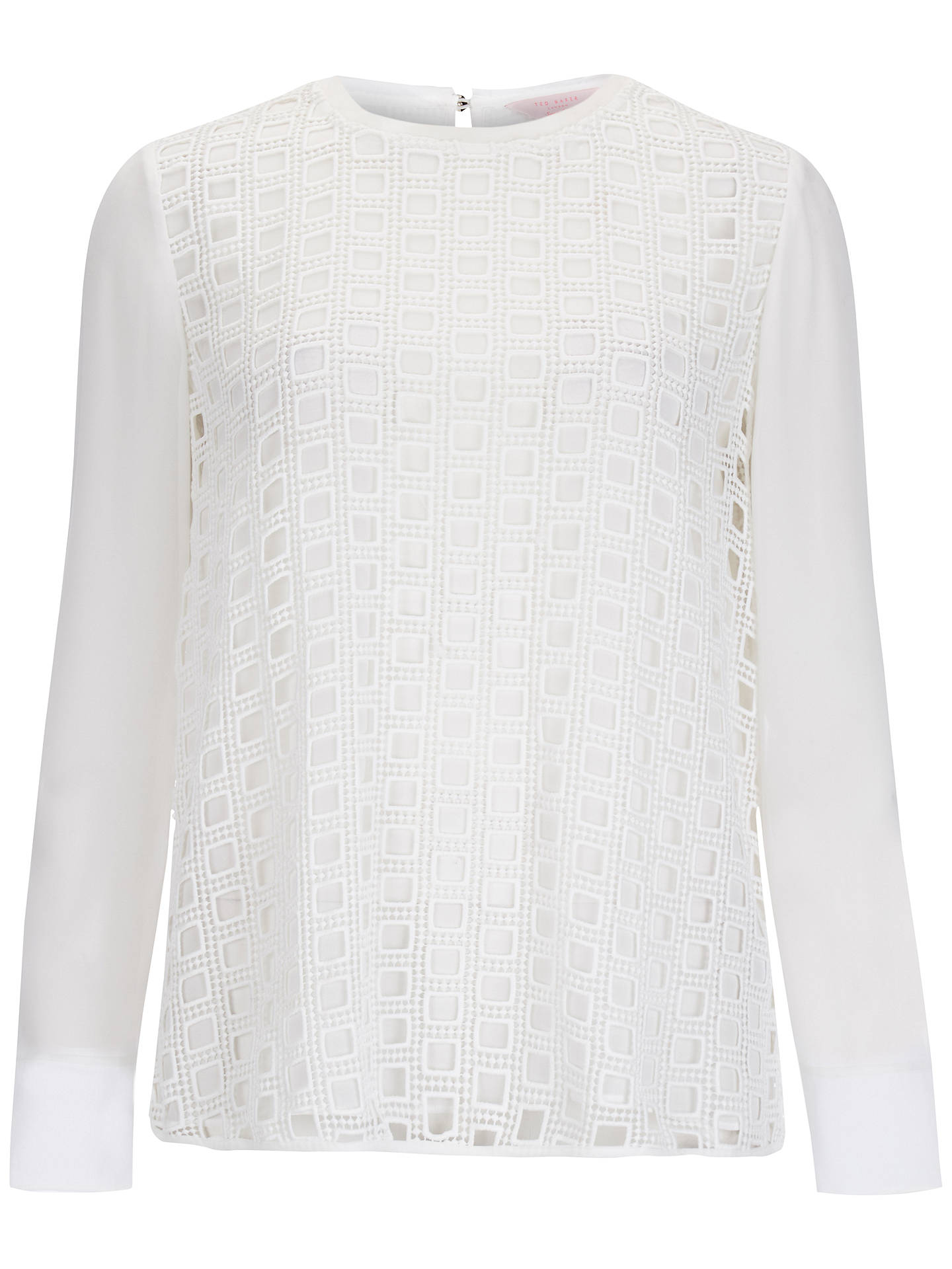 Buy Ted Baker Soreyaa Lace Overlay Top, Cream, 6 Online at johnlewis.com