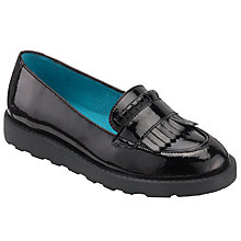 Buy John Lewis Children's Sloane Flatform Loafers, Black Online at johnlewis.com