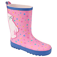 Buy John Lewis Children's Multi Star Wellington Boots, Pink Online at johnlewis.com