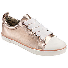 Buy John Lewis Children's Paige Lace Up Shoes, Rose Gold Online at johnlewis.com