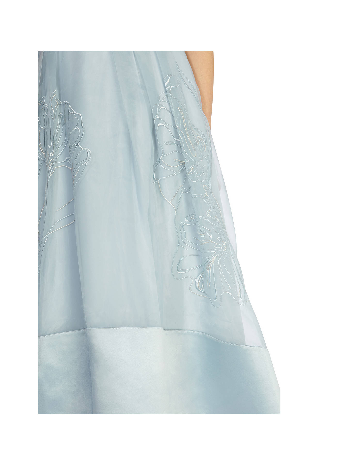 Coast Sulla Organza Skirt, Pale Blue at John Lewis & Partners