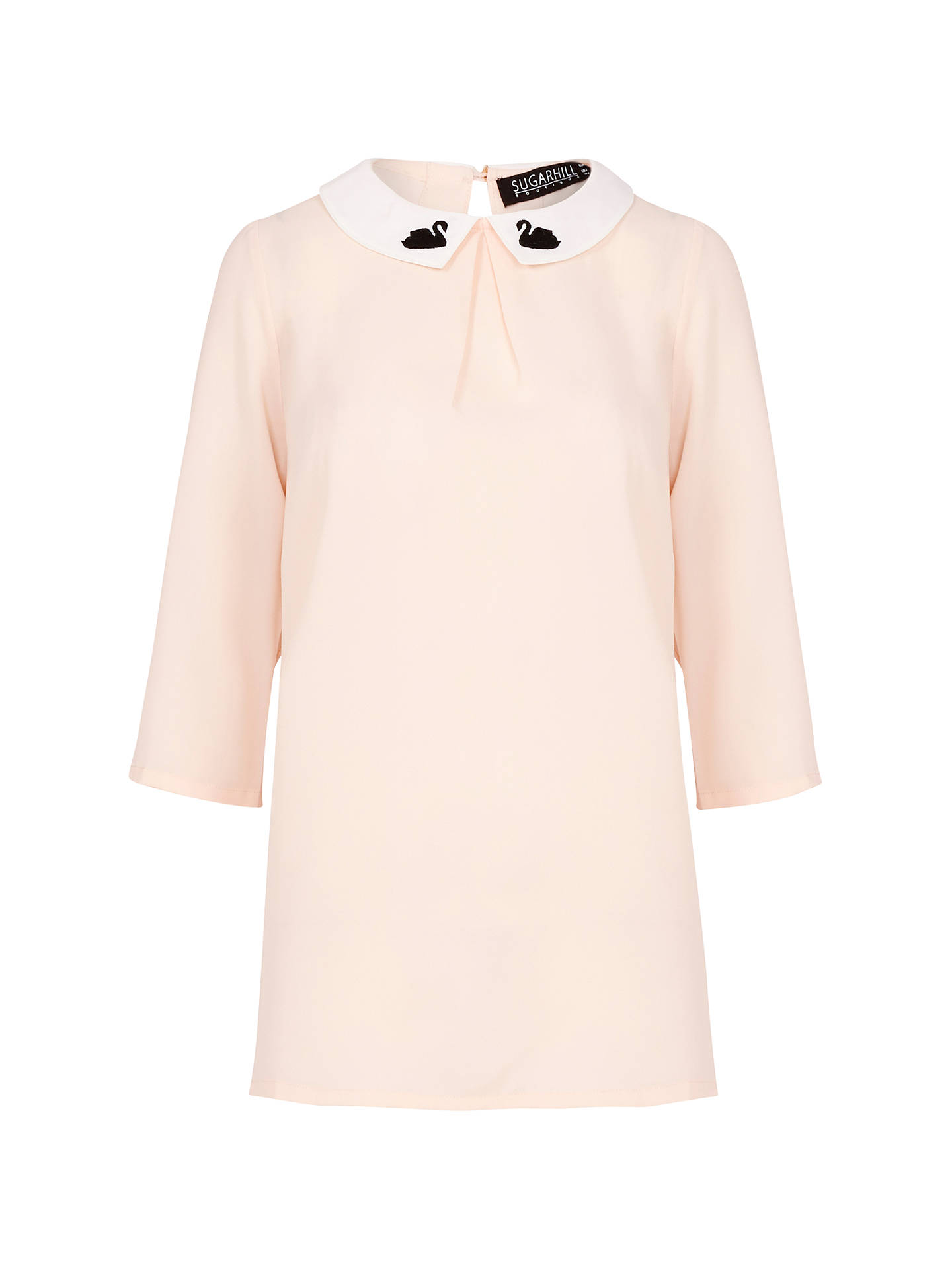 Buy Sugarhill Boutique Nala Swan Top, Pale Pink, 8 Online at johnlewis.com