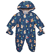 Buy John Lewis Baby Bear Snowsuit, Navy Online at johnlewis.com