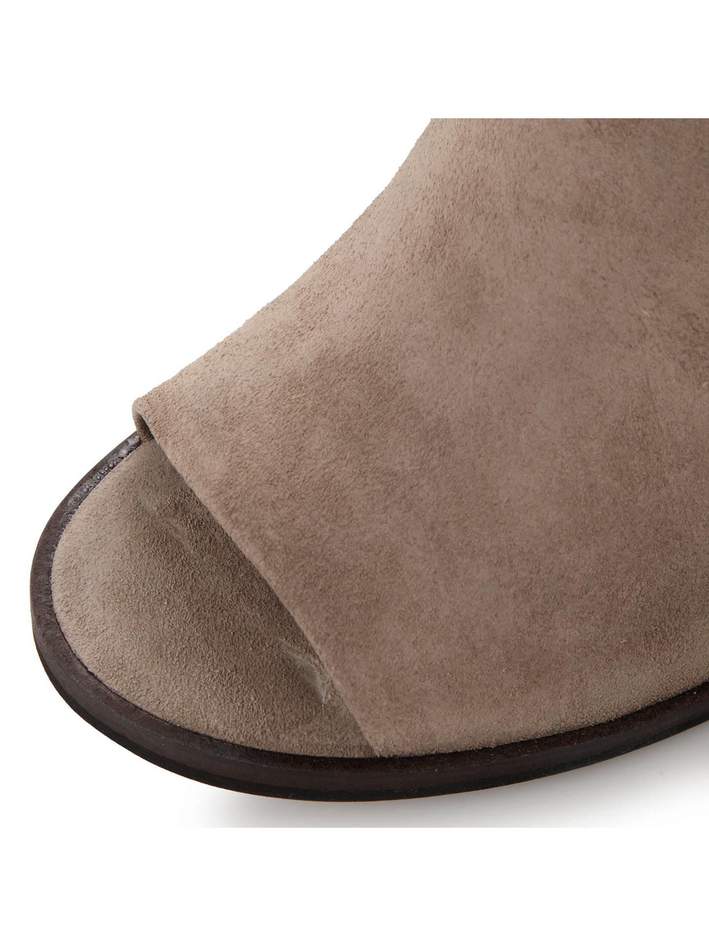 1c6dfd9007 ... Buy Steve Madden Tallen Peep Toe Block Heel Sandals, Grey Suede, 3  Online at ...