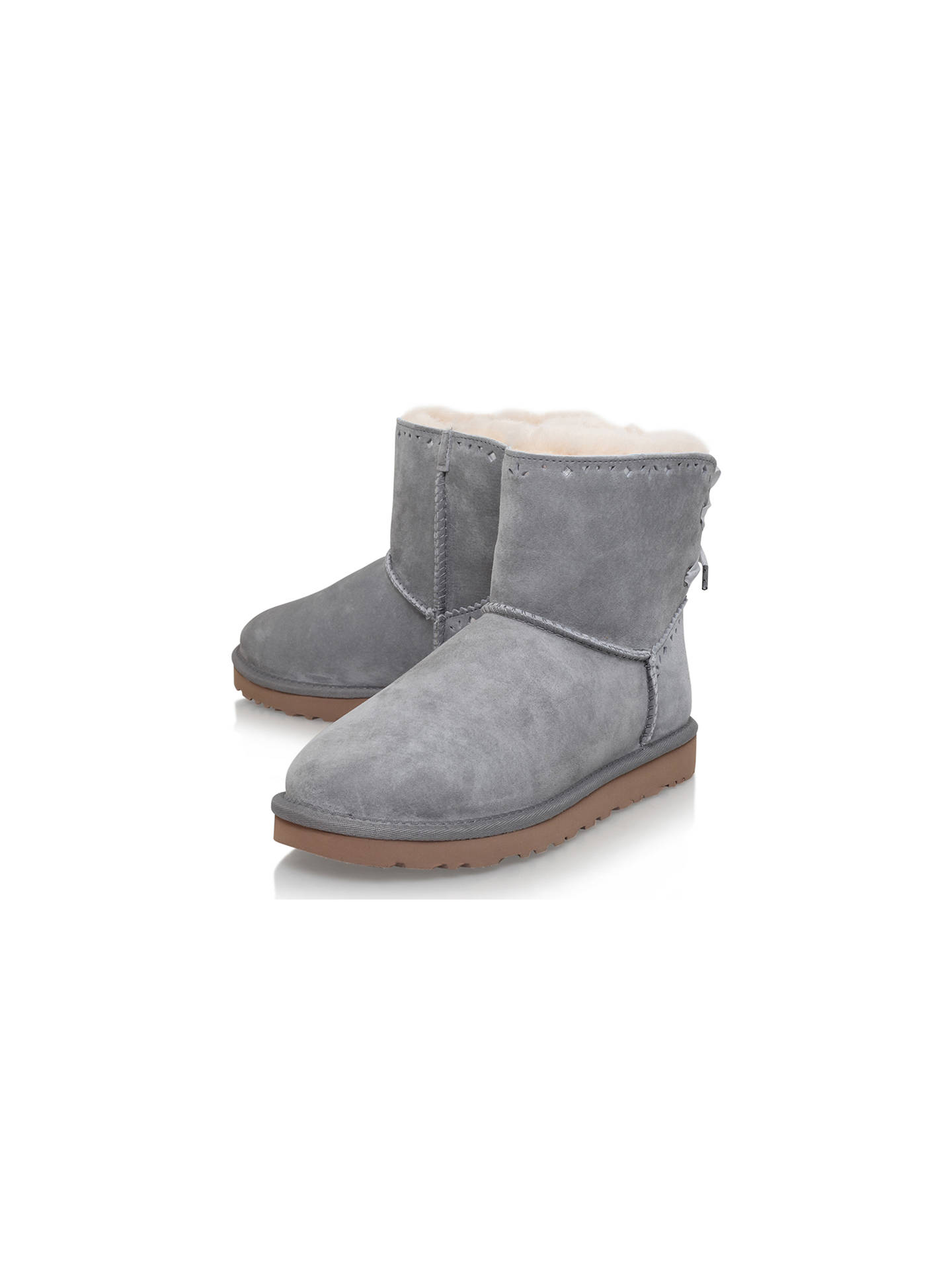 7788f230b97 UGG Dixie Floral Ankle Boots, Grey Suede at John Lewis & Partners