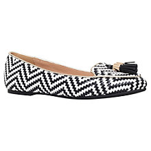 Buy Miss KG Neptune Slip On Loafers, Black/White Online at johnlewis.com