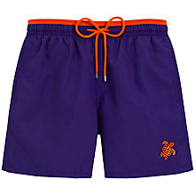 Buy Vilebrequin Bicolour Solid Moka Embroidered Swim Shorts Online at johnlewis.com