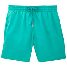 Buy Vilebrequin Moorea Veronese Plain Bubble Swim Shorts, Green Online at johnlewis.com