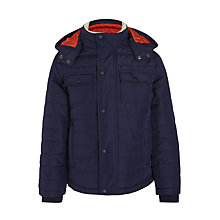 Buy John Lewis Boys' Quilted Coat, Navy Online at johnlewis.com