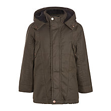 Buy John Lewis Boys' Cobblestone Wax Jacket, Chocolate Online at johnlewis.com
