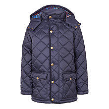 Buy John Lewis Boys' Diamond Quilted Jacket, Navy Online at johnlewis.com