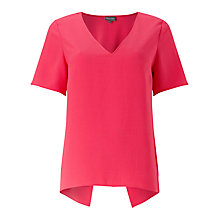 Buy Phase Eight Danae Crepe Blouse, Lobster Pink Online at johnlewis.com