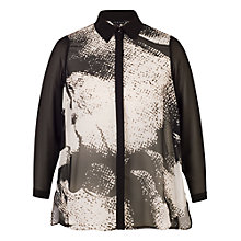 Buy Chesca Printed Shirt, Black/Ivory Online at johnlewis.com
