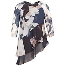 Buy Chesca Layer Asymmetric Top, Blue Online at johnlewis.com