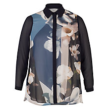 Buy Chesca Printed Shirt, Blue Online at johnlewis.com