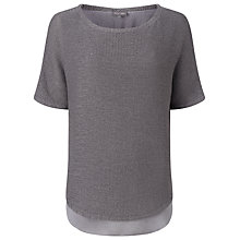 Buy Phase Eight Tape Yarn Macey Knit Top, Steel Grey Online at johnlewis.com
