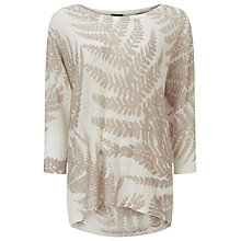 Buy Phase Eight Fia Fern Print Jumper, White/Stone Online at johnlewis.com