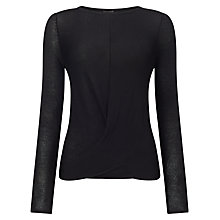 Buy Phase Eight Gretchen Twist Knot Top, Black Online at johnlewis.com