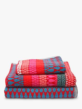 Margo Selby for John Lewis Faversham Towels, Red
