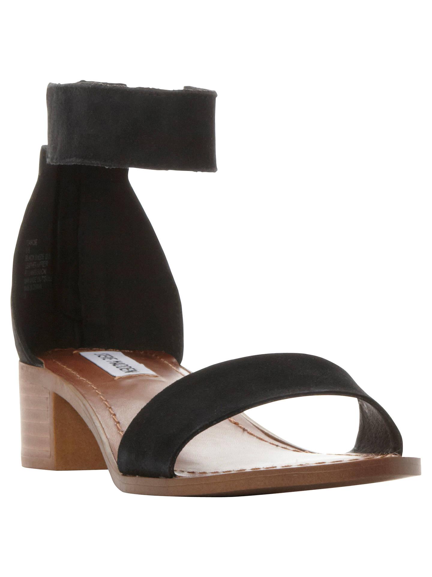 85653293b Buy Steve Madden Darcie Block Heeled Sandals, Black Suede, 3 Online at  johnlewis.