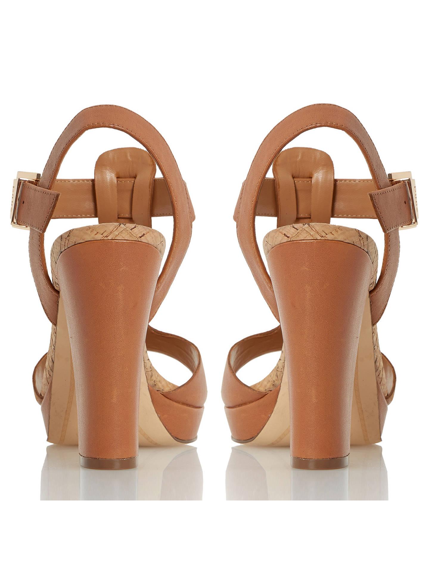 35d6b79dff7 Dune Ismin T-Bar Block Heeled Sandals, Tan Leather at John Lewis ...