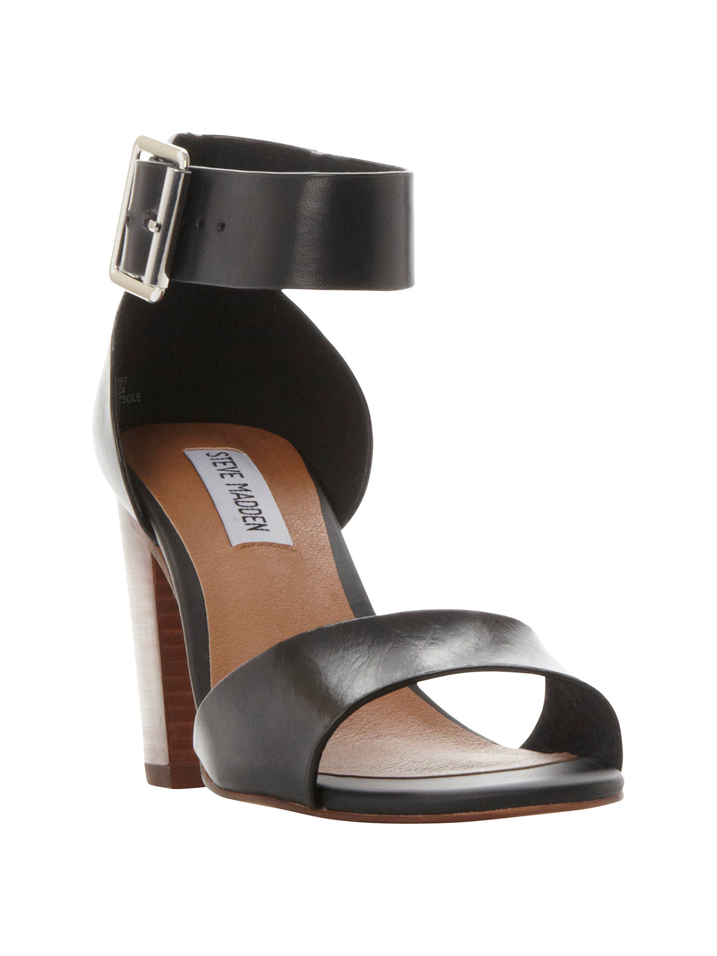 b8e7b6d5f7e Steve Madden Estoria Block Heeled Sandals at John Lewis & Partners