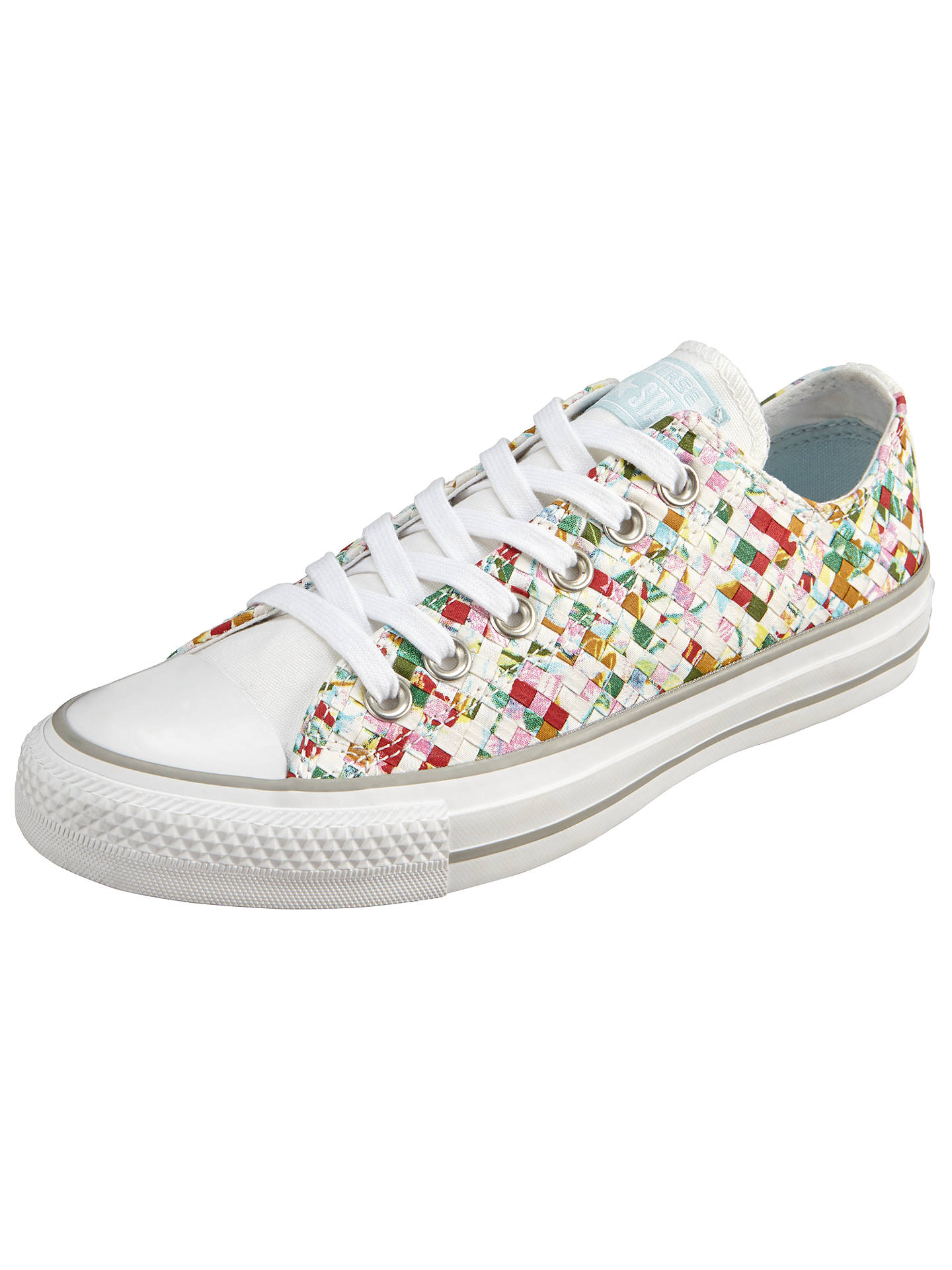 87871ba81379 Buy Converse Chuck Taylor All Star Ox Woven Print Trainers, Multi, 3 Online  at ...