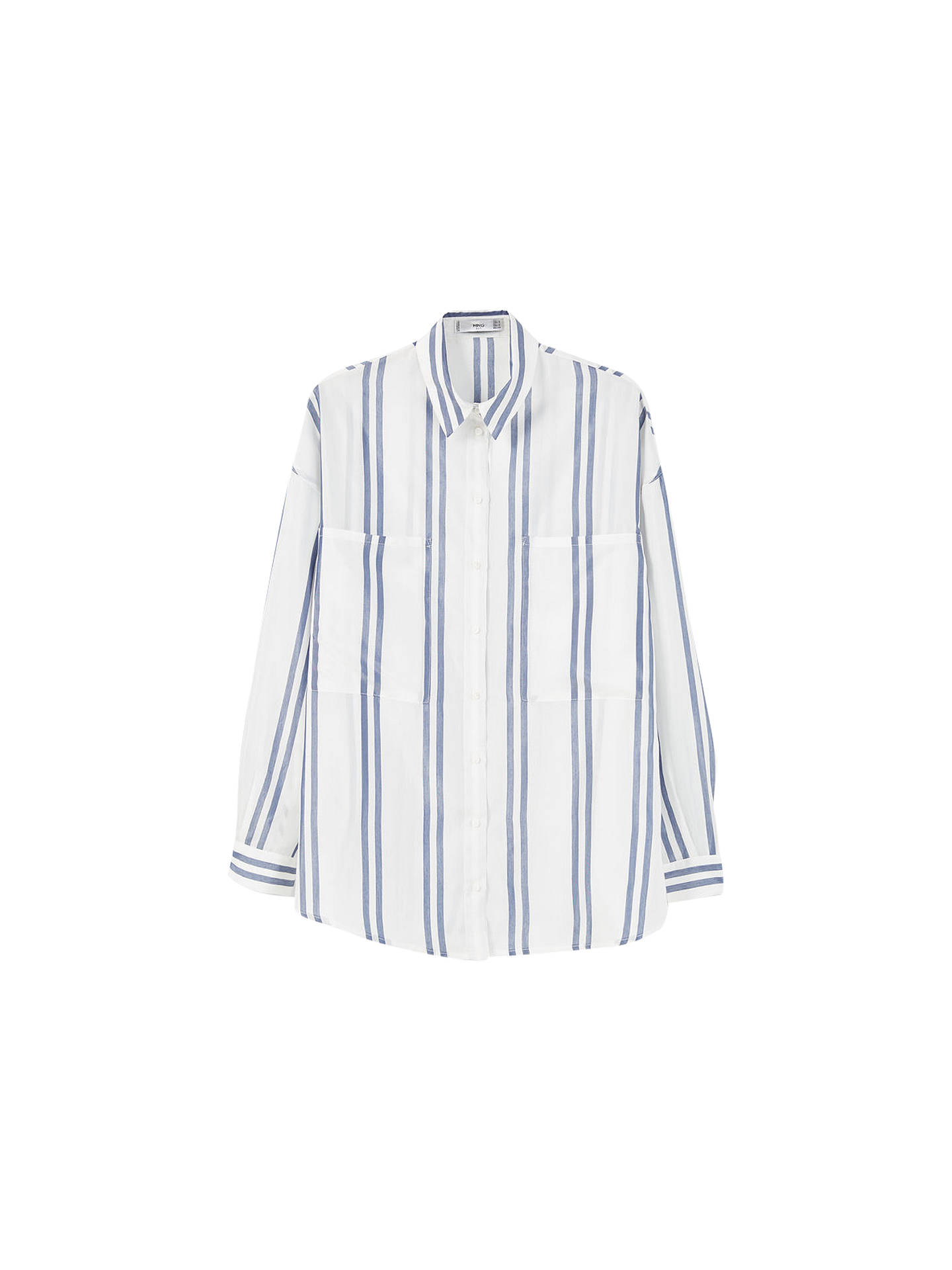 a968c0ef5b Buy Mango Oversized Striped Shirt, Navy/White, 6 Online at johnlewis.com ...