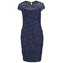 Buy Gina Bacconi Layered Lace Dress, Navy Online at johnlewis.com