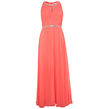 Buy Gina Bacconi Chiffon Beaded Dress, Coral Online at johnlewis.com