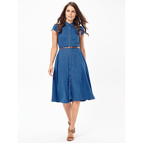 Buy Phase Eight Sophie Chambray Dress, Indigo Online at johnlewis.com