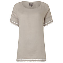 Buy Phase Eight Alessia Linen Blouse, Pale Silver Online at johnlewis.com