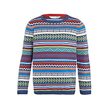 Buy John Lewis Boys' Geo Fair Isle Jumper. Multi Online at johnlewis.com