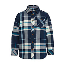 Buy John Lewis Boys' Check Shirt, Blue/Cream Online at johnlewis.com