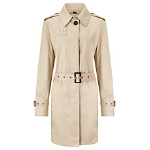 Buy Four Seasons Single Breasted Contemporary Trench Coat, Natural Online at johnlewis.com