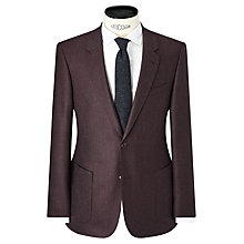 Buy JOHN LEWIS & Co. Ashwell Wool Flannel Tailored Suit Jacket, Mulberry Online at johnlewis.com