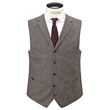 Buy JOHN LEWIS & Co. Pilkington Tailored Waistcoat, Biscuit Online at johnlewis.com