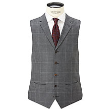 Buy JOHN LEWIS & Co. Hooper Prince of Wales Check Tailored Waistcoat, Mid Grey Online at johnlewis.com