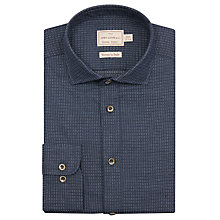 Buy JOHN LEWIS & Co. Radcliffe Woven Dot Tailored Fit Shirt, Blue Online at johnlewis.com