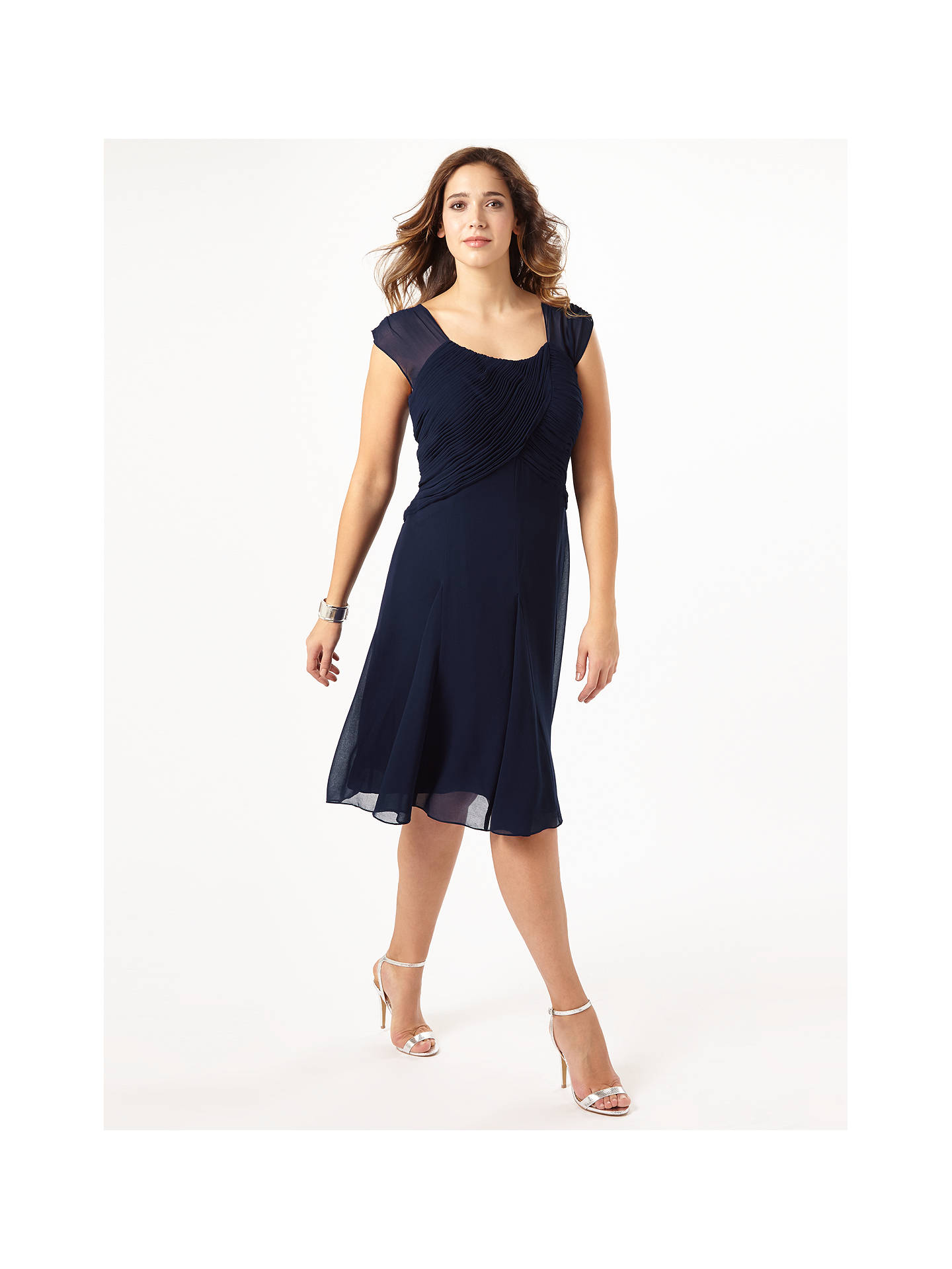 Buy Studio 8 Adrianne Dress, Navy, 16 Online at johnlewis.com
