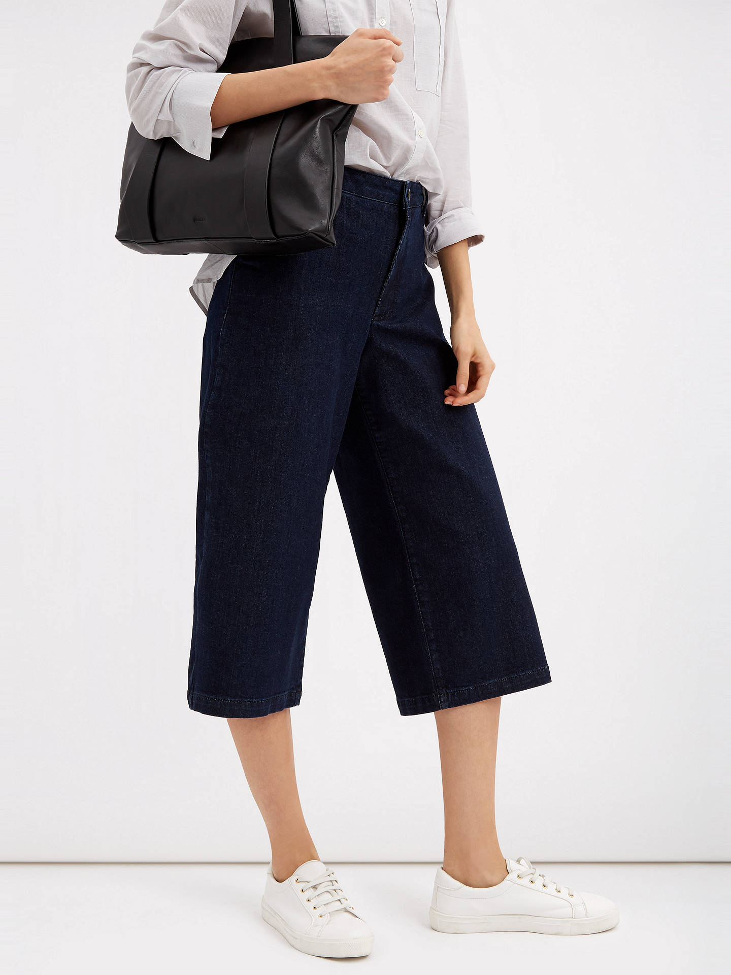 BuyJaeger Denim Culottes, Indigo, 6 Online at johnlewis.com