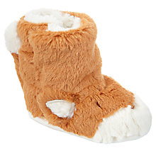 Buy John Lewis Baby Fox Booties, Orange Online at johnlewis.com
