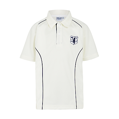 Hornsby House School Unisex Cricket Shirt, Cream