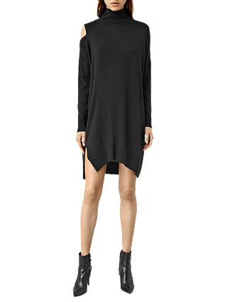 Buy AllSaints Cecily Dress, Black, XS Online at johnlewis.com