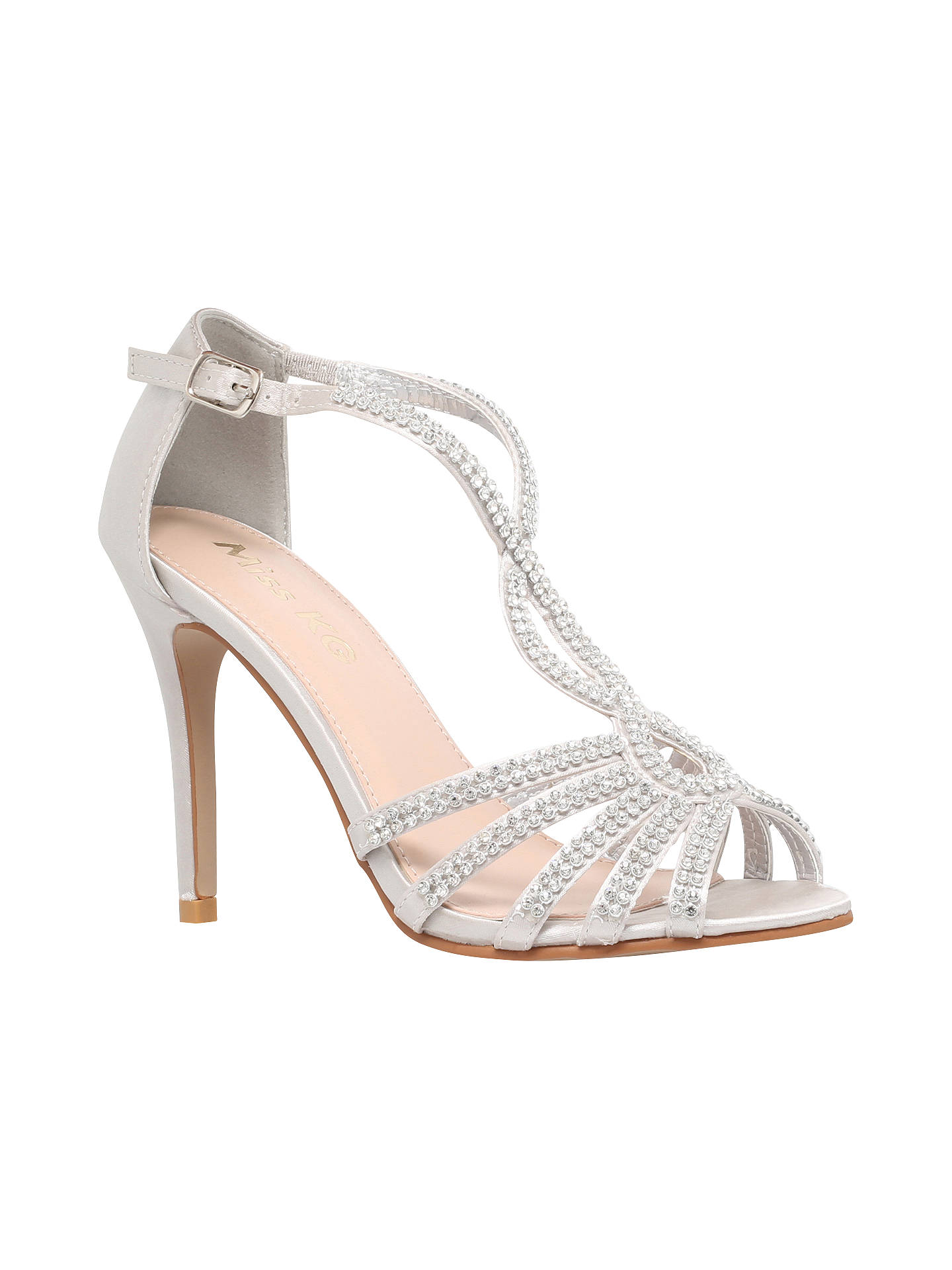 4422f3ee4f5b92 Buy Miss KG Pepper 2 Embellished Satin High Heel Sandals